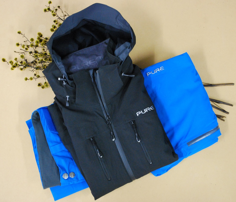 Pure Brandz black jacket & blue pant