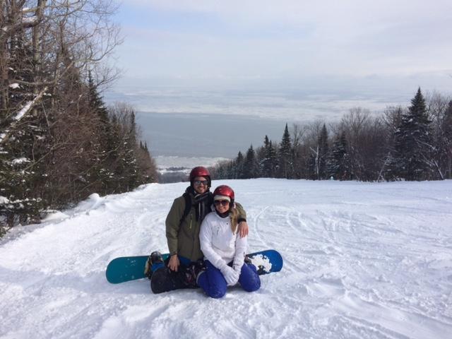 Amber & Karl - Le Massif, Quebec, 2015