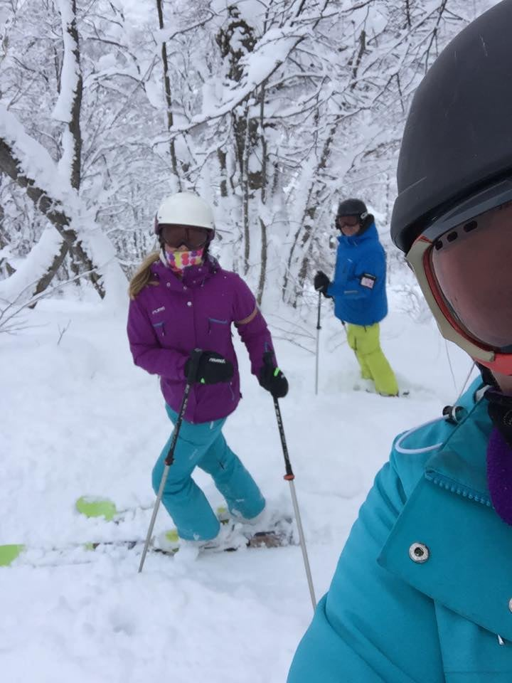 Lisa Matthes Loving our Pure Gear in the heart of Hokkaido, Japan. Keeping us really toasty warm at -8degs.jpg