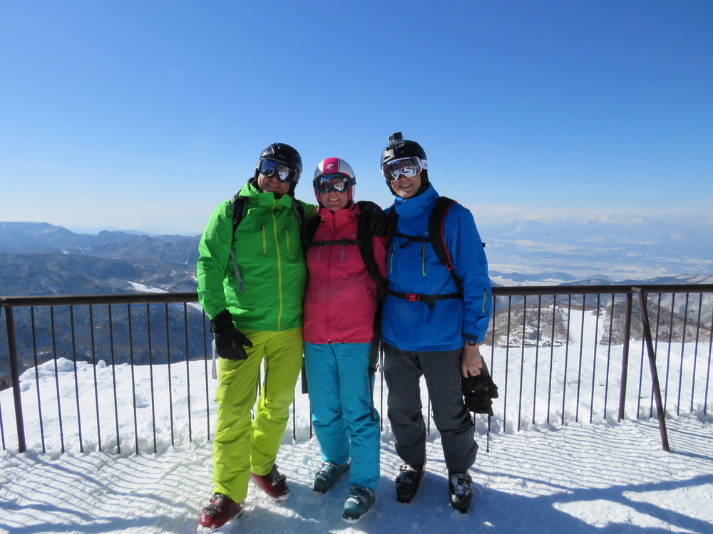Shiga Kogen: enjoying the views at Shiga Kogen. We met up with Ken who was clearly a fan of Pure too!