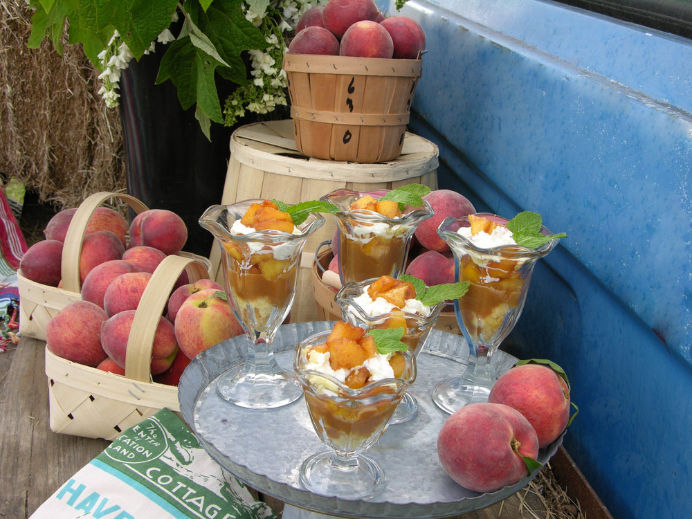 Grilled Peach Pound Cake Parfait