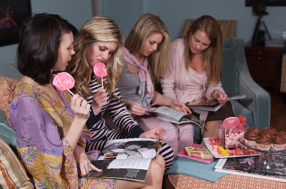 GUILTY PLEASURE FUN: ASK ALL THE GIRLS TO BRING FAVORITE GOSSIP OR FASHION MAGAZINES TO SHARE