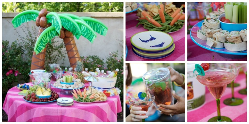 Backyard Spa Party decorations Martie Duncan