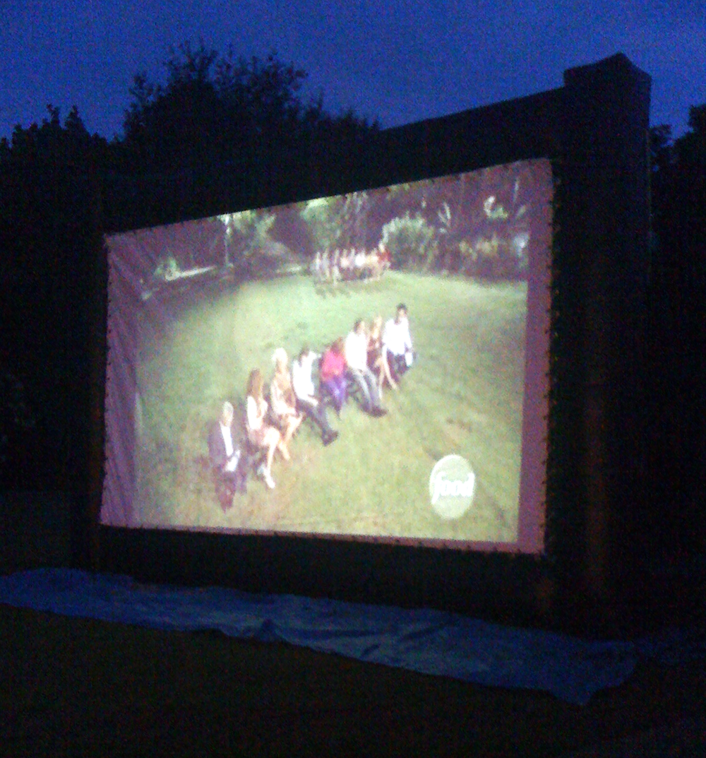 We screened an episode of Food Network Star at one party - so much fun to watch it on the big screen!
