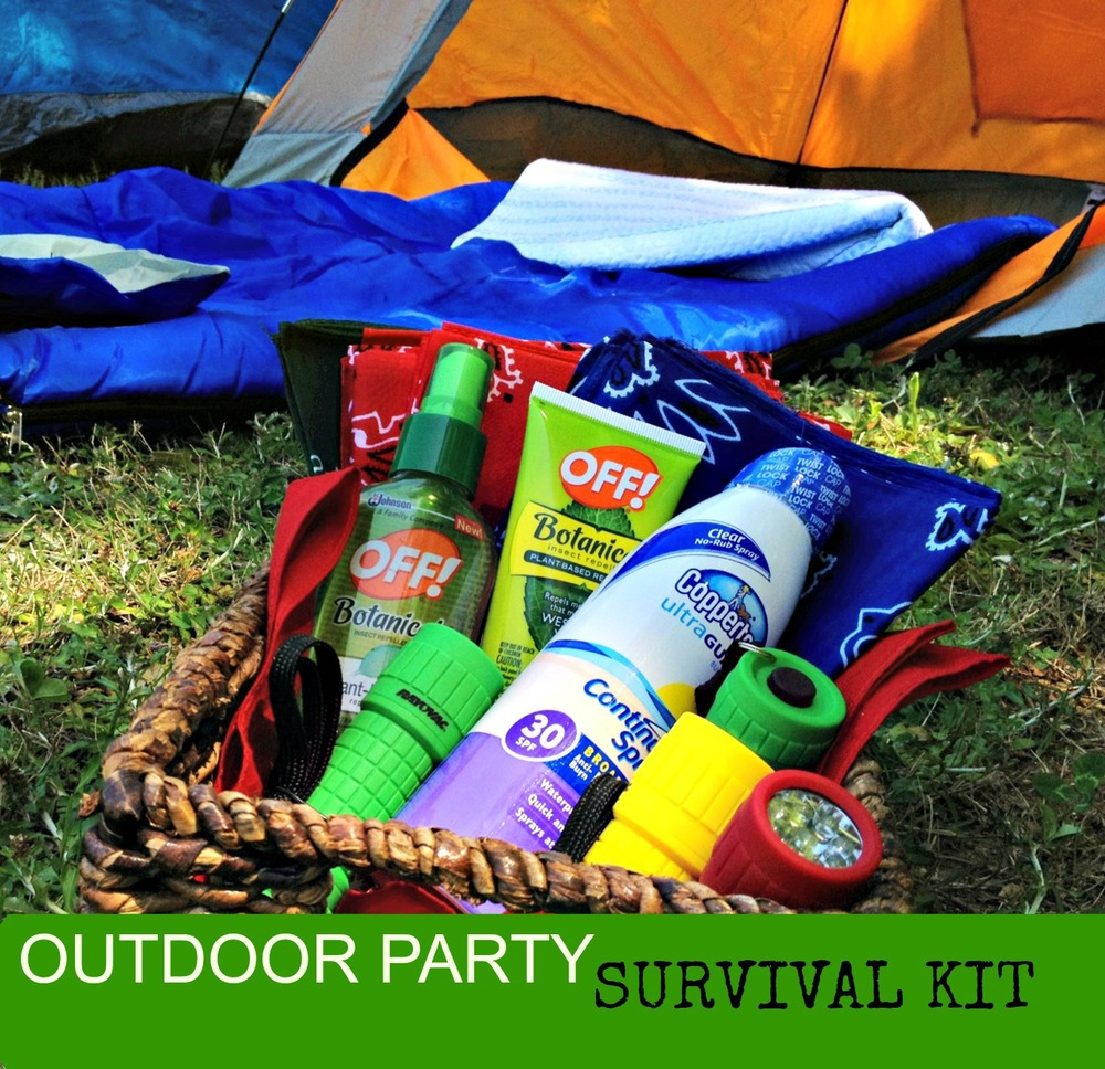 Outdoor Party Survival Kit for Guests