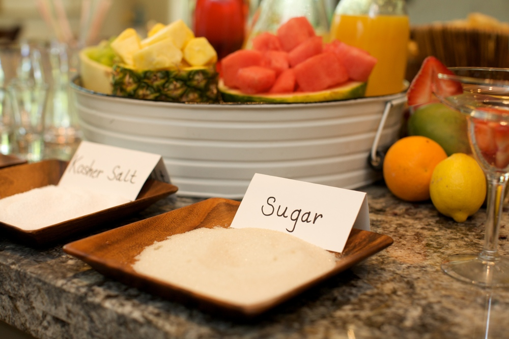 Set up a rimming station with both sugar and salt options.