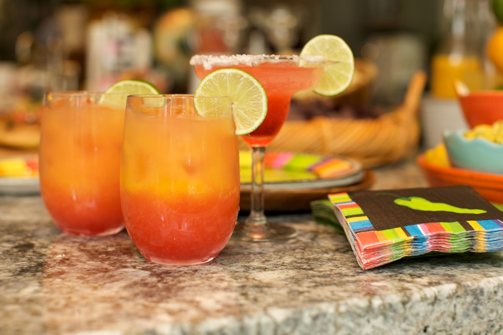 The Orange Beach cocktail is a spin on a Tequila Sunrise.