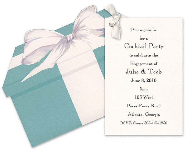 Breakfast at Tiffany party invitation