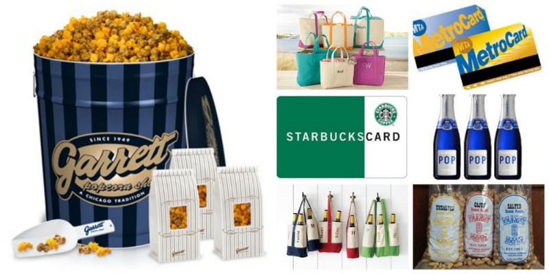 A few of my favorite ideas for favors or for guest arrivals include Starbuck's cards, LL Bean or Lands End monogrammed totes, mini Champagne bottles, local transit cards, or local favorites like Garrett's Popcorn in my other hometown of Chicago or Peanut Depot roasted peanuts in my hometown of Birmingham.