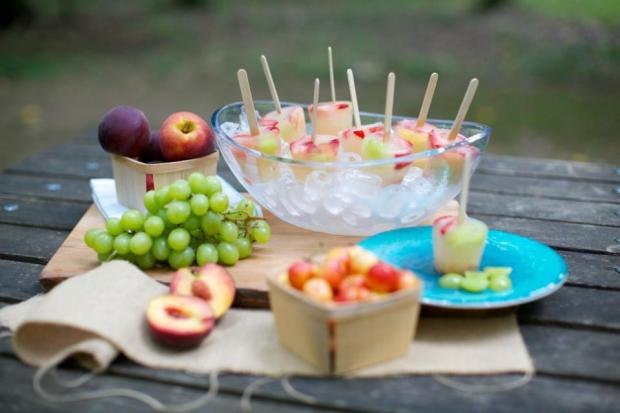 Sangria pops from Food Network Star Martie Duncan are the perfect party starter for summer get-togethers!  Photo: Arden Photography