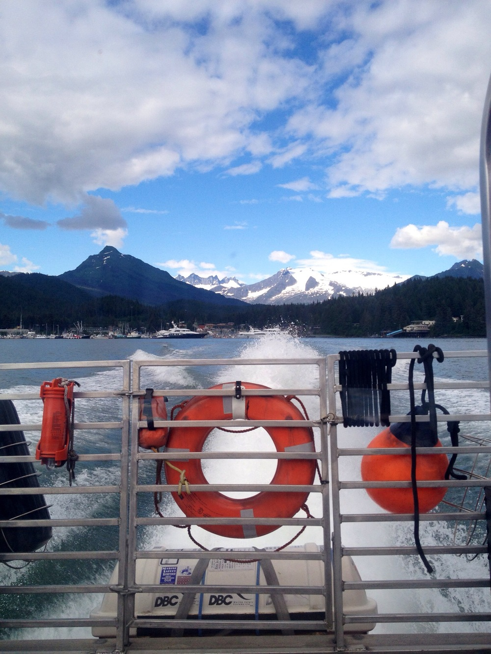 The view as we depart Juneau for a day of whale watching from our Dolphin Tours jet boat.
