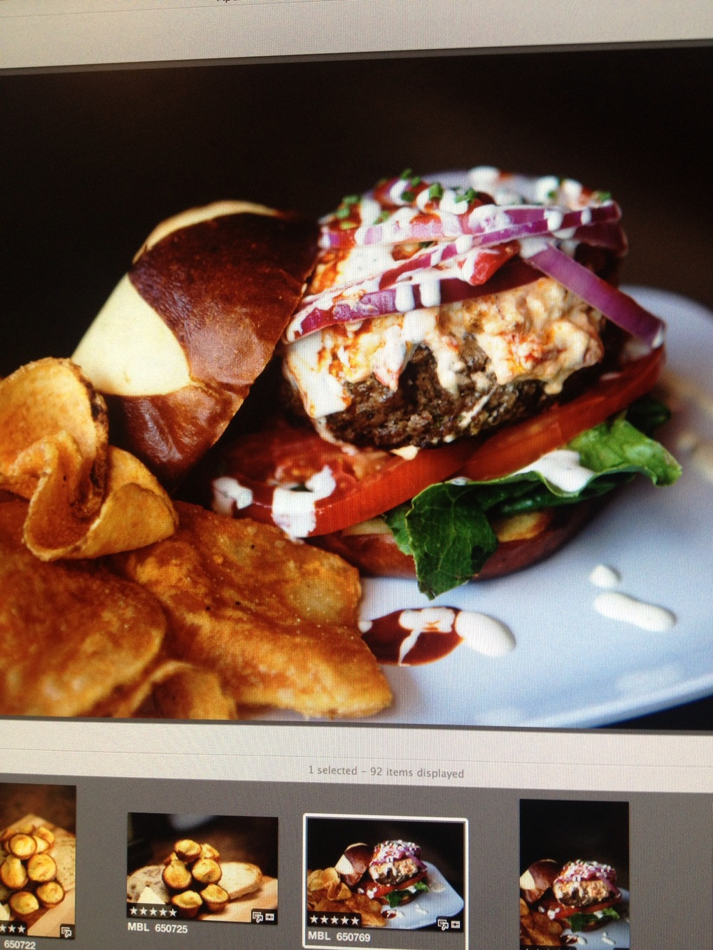 Red White and Blue Burger On Tap Sports Cafe