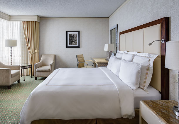Rooms are plush at the JW Marriott New Orleans