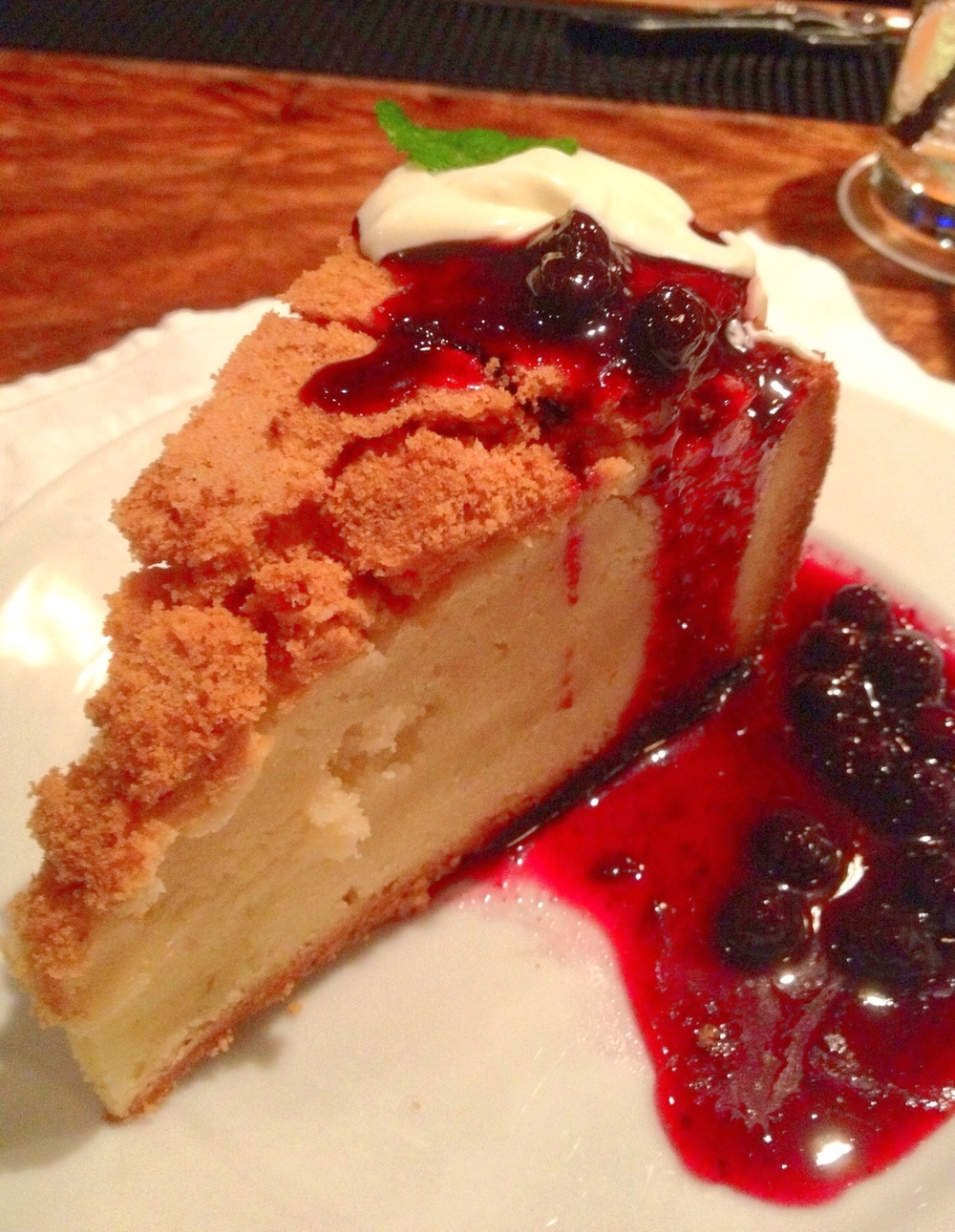 favorite dessert New Orleans Vanilla Gateau Basque Cake with Berry Marmalade