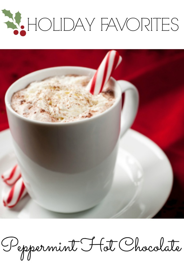 delicious peppermint hot chocolate recipe by Martie Duncan