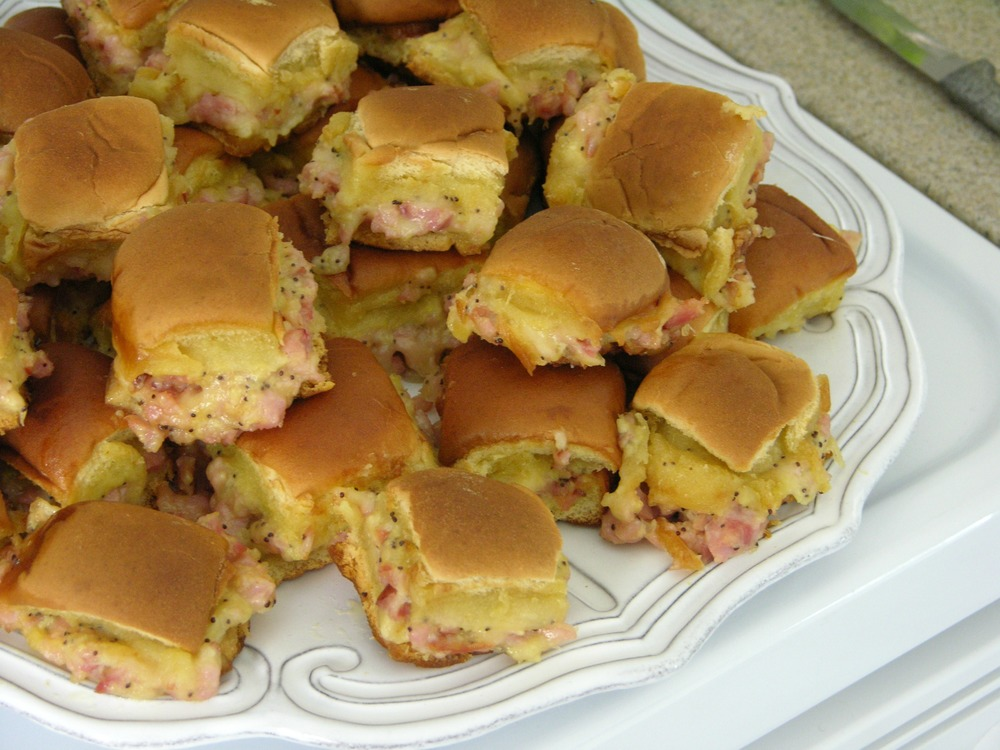 Ham Delights mini ham sandwiches party appetizer recipe MartieDuncan.com