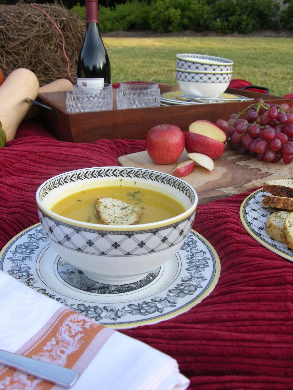 Roasted Butternut Squash soup recipe MartieDuncan.com