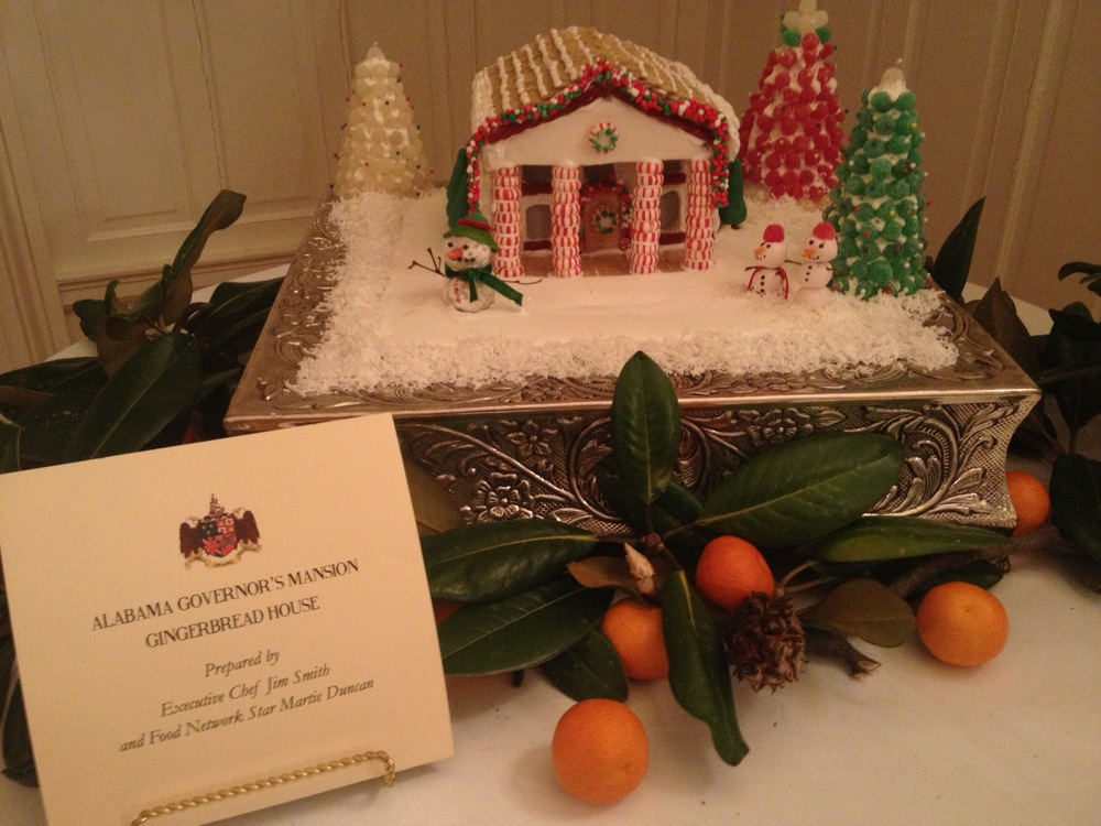 Second annual Christmas gingerbread house Alabama Governor's mansion 2014