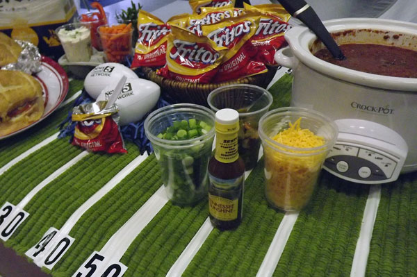 Serve chili in Frito bags with condiments Martie Duncan