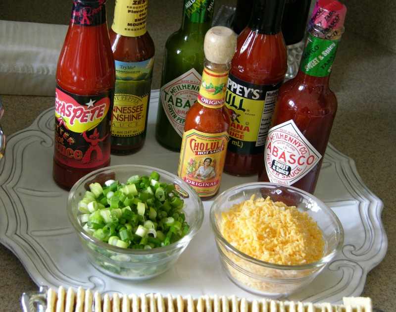 Condiment Bar for Super Bowl Souper Bowl party