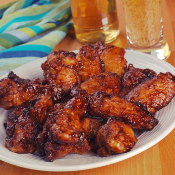 Spicy Baked Chicken wings Super Bowl recipes Martie Duncan
