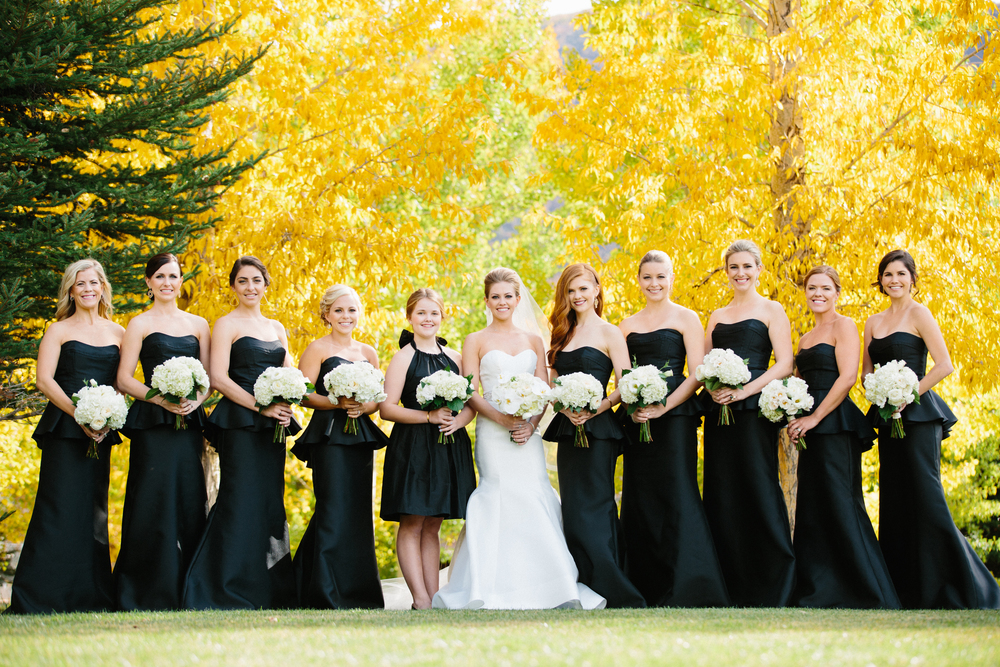 bridal party formal Aspen wedding