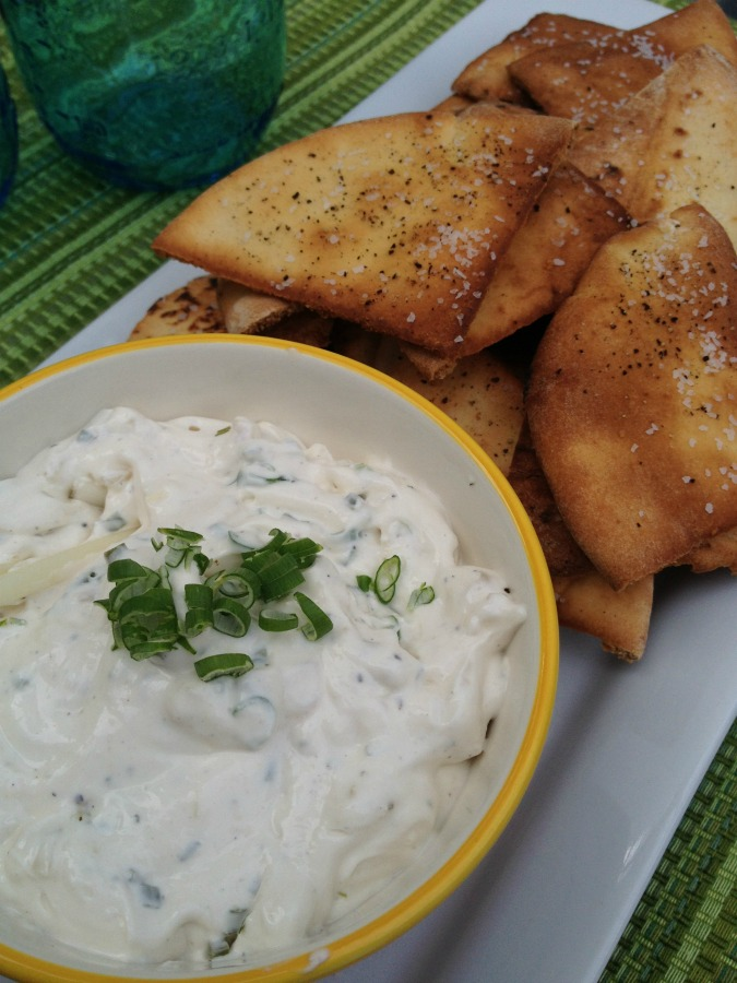 super bowl favorite recipes charred onion dip and homemade baked pita chips