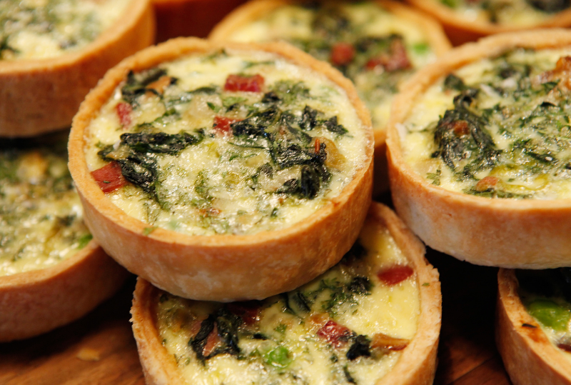 cheesy bacon artichoke and spinach bites