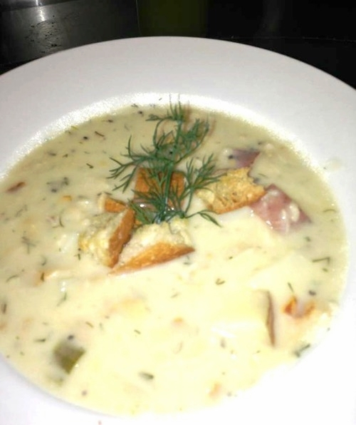 Chef Michele Ragussis' award-winning restaurant style New England Clam Chowder.