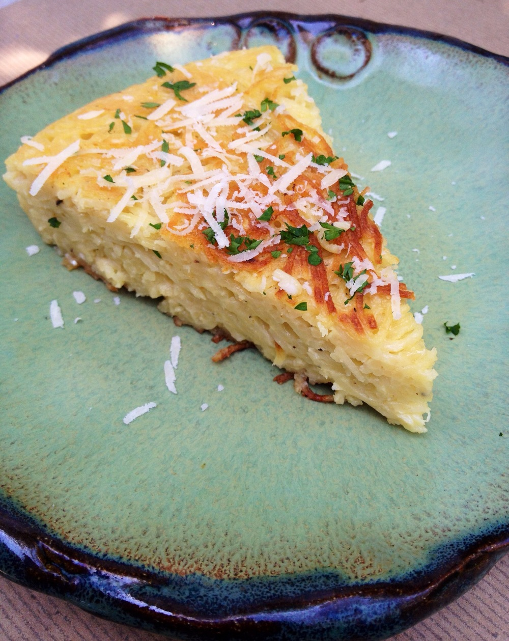 easy recipe using pasta to bake into a skillet cake