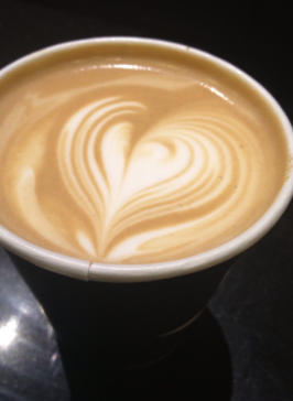 How to make a heart design in coffee