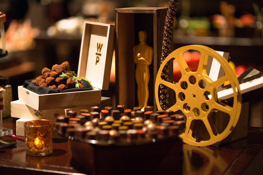 Oscar Party Menu Dessert Table