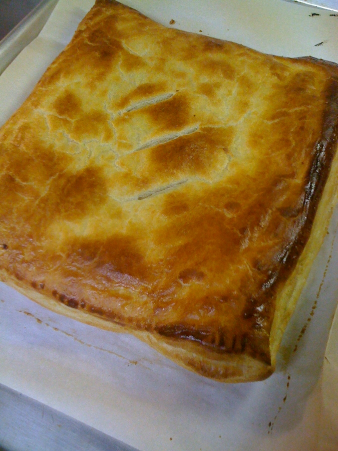 favorite party appetizer Ham and Cheese in puff pastry