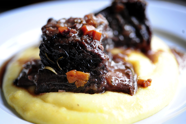 Ree Drummond's Braised Beef Short Ribs over Creamy Polenta PHOTO: Ree Drummond/ThePioneerWoman.com