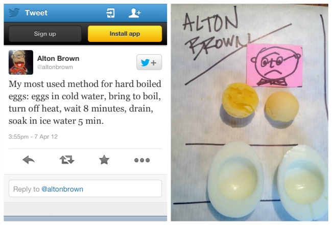 Alton Brown's hard boiled egg tips plus his method for oven cooked eggs.