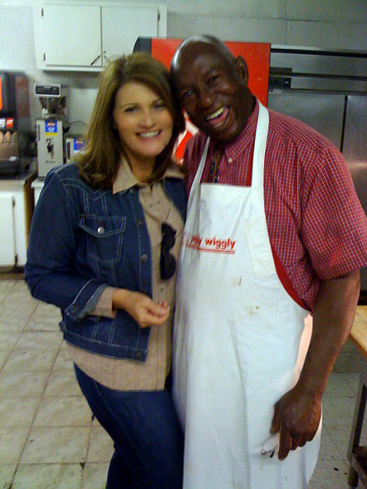 Martie Duncan and Mr. D and the best fried chicken ever