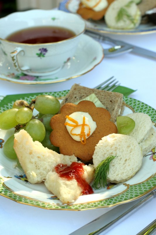 While you can barely see it, there's Benedictine Spread in those little tea sandwiches. It's often used for dip as well.