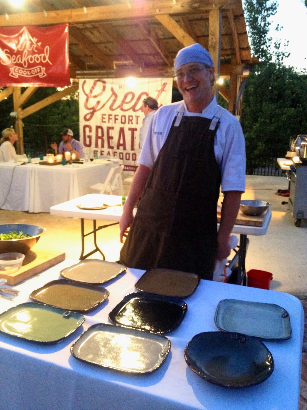 Chef Brody Olive Earthborn Pottery Alabama Gulf Seafood Cookoff