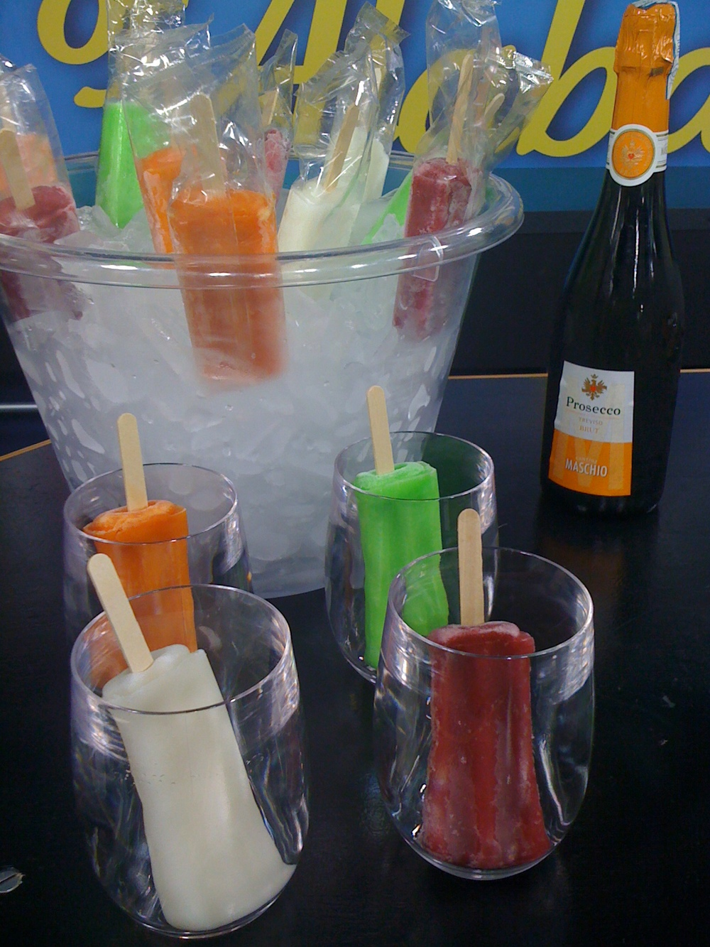 Popsicles and Prosecco for a Party