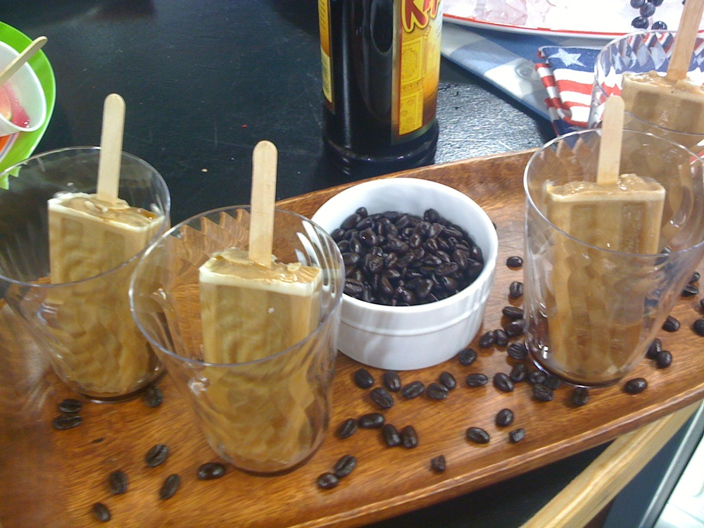 Coffee Popsicles with Kahlua