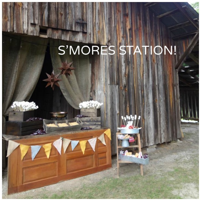 S'mores Bar design for a large party or wedding