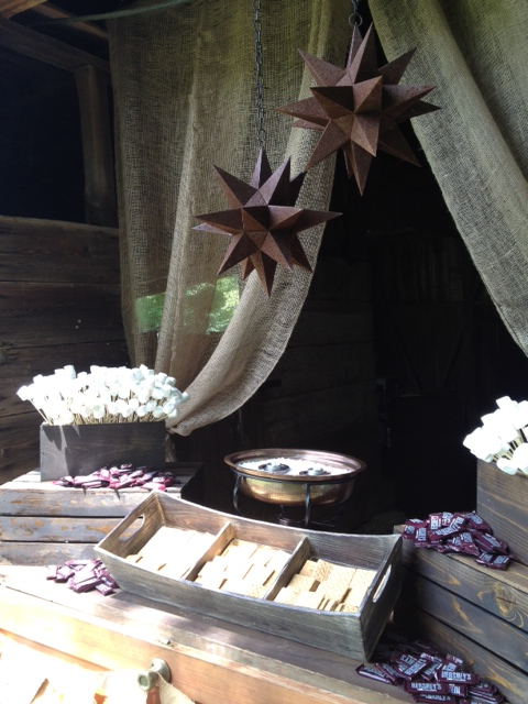 S'mores Bar for a large party or wedding