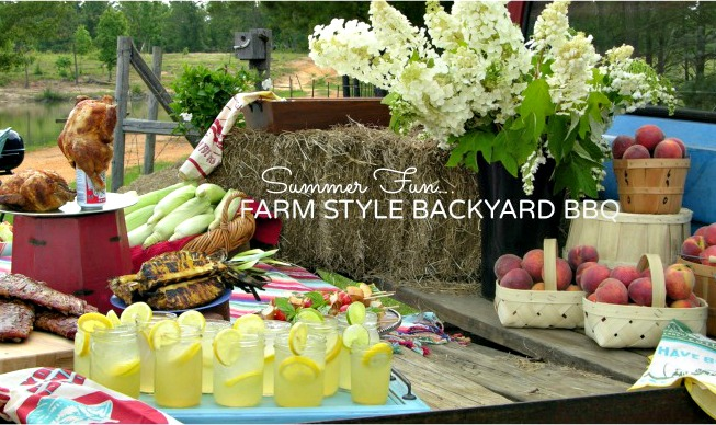 PARTY THEMES FARM STYLE BACKYARD BBQ Martie Duncan - Backyard bbq party ideas