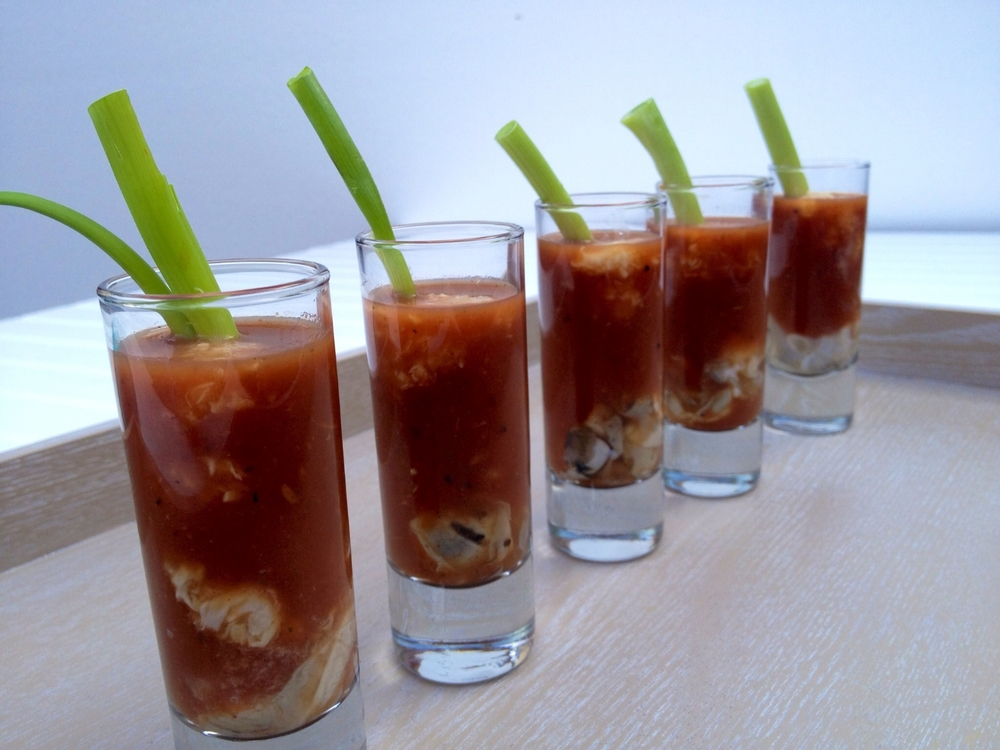 RECIPE BLOODY MARY OYSTER SHOOTERS Martie Duncan