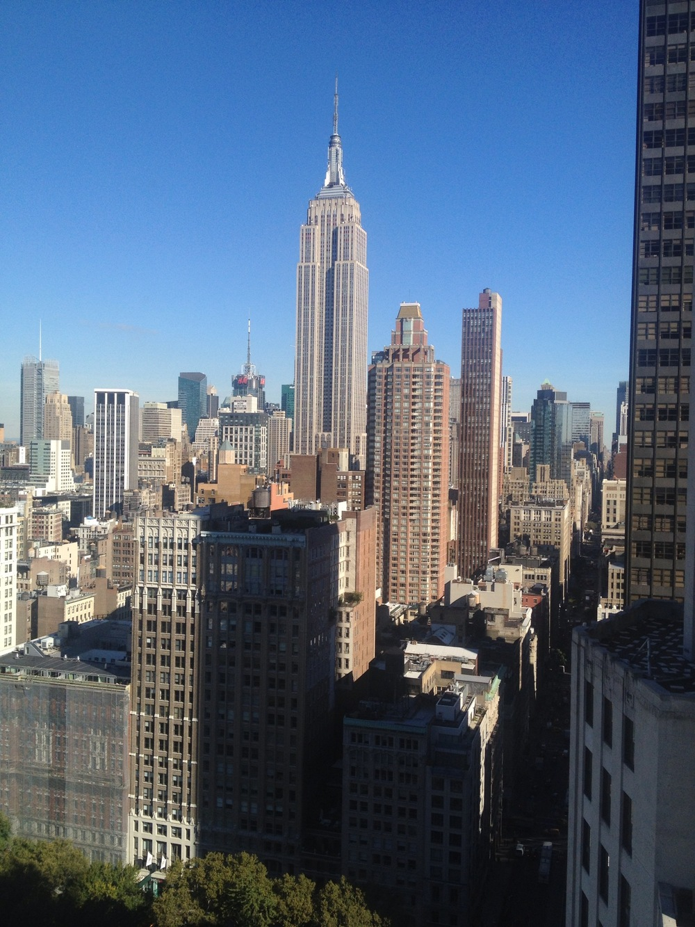 View of the Empire State Building from my room at The Edition 24th and Madison