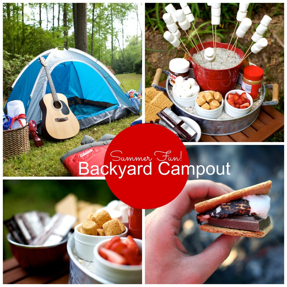 Easy summer fun have a backyard camping party