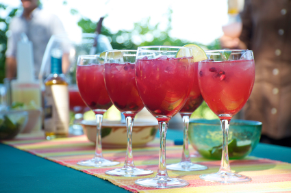 Blackberry mojitos for a crowd