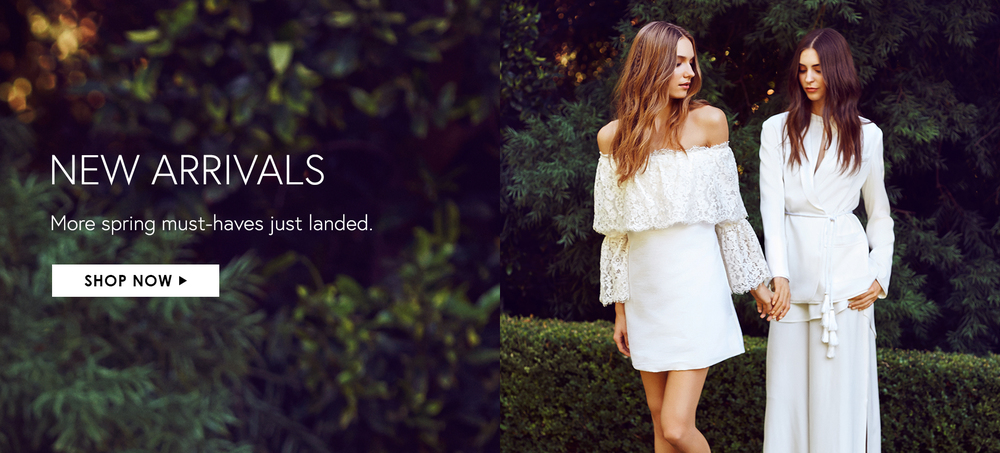 New Arrivals Homepage