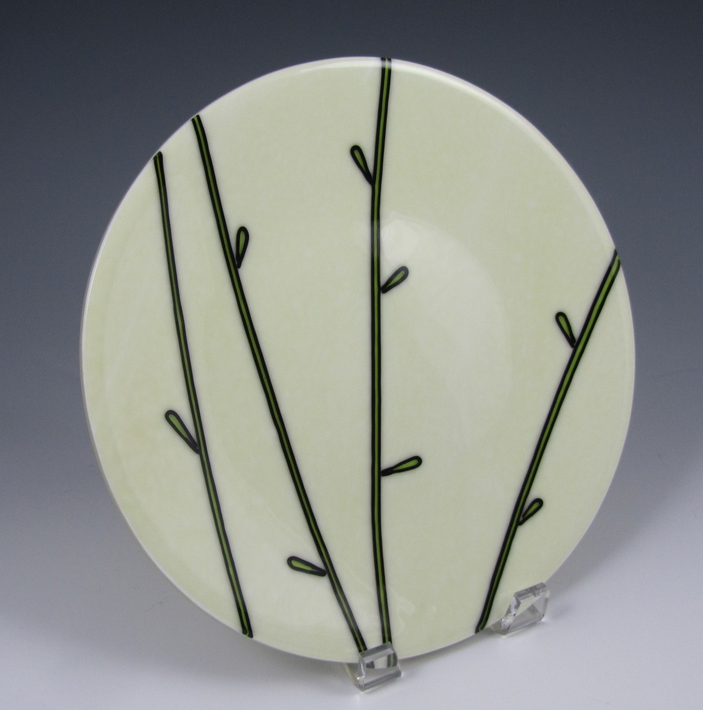 green reed plate