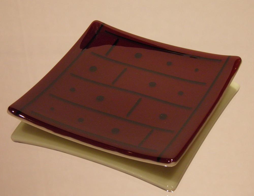 burgundy brick dish